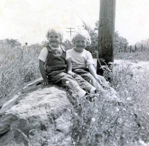 Dorothy & Cathy at about 2 &4 yrs